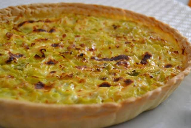 tarte aux poireaux, thon et moutarde avec Thermomix