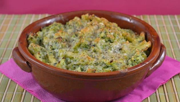 Gratin de pâtes au brocoli et ricotta WW