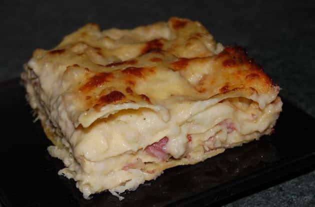 lasagnes au chou-fleur et jambon WW