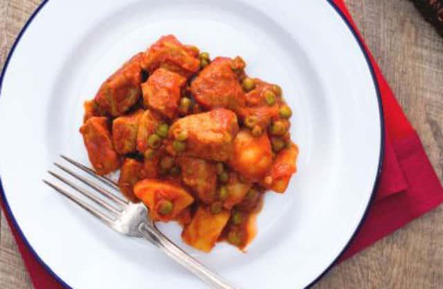 Ragoût de veau aux pommes de terre et petits pois WW