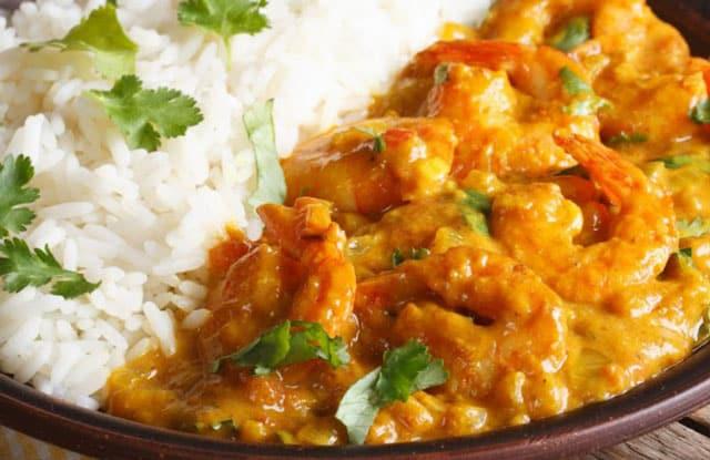 Curry de crevettes au lait de coco WW