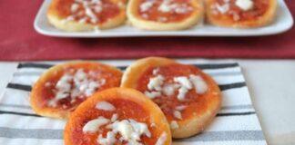 minis pizzas à la pâte pizza au yaourt avec Thermomix
