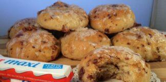petits pains au Kinder maxi avec Thermomix, délicieux petits pains moelleux, facile et simple à réaliser pour le petit-déjeuner ou le goûter des enfants.