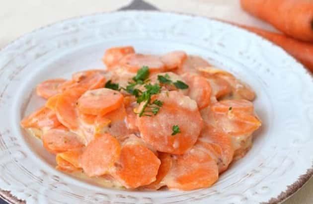 carottes au lait WW