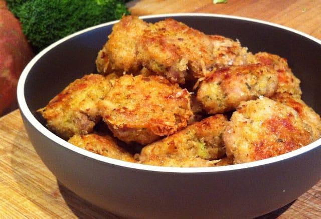 Nuggets de poulet au brocoli ( au four ) WW
