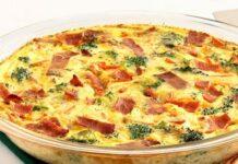 Quiche sans pâte brocoli, jambon et chèvre WW