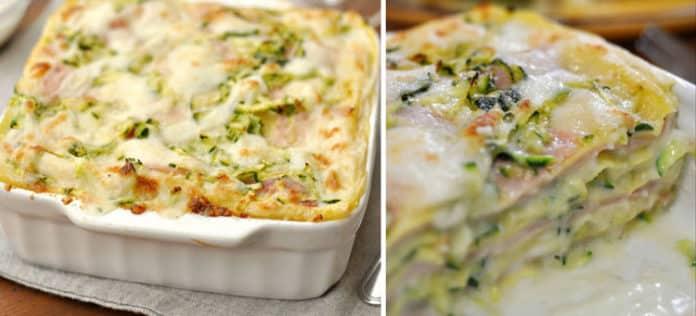 Lasagnes aux courgettes et au jambon avec Thermomix