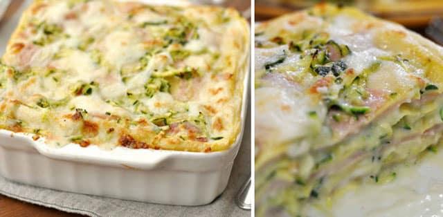 Lasagnes aux courgettes et au jambon WW