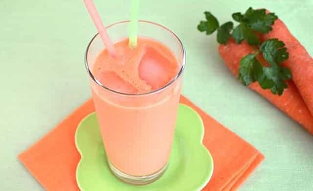 Milk-shake aux carottes à 0 SP