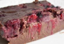 Clafoutis au Chocolat et fruits rouges avec Thermomix