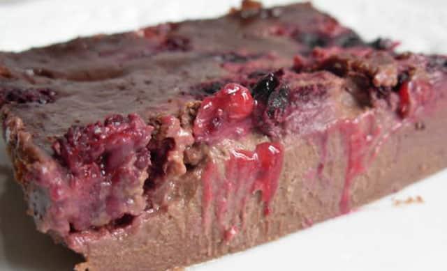 Clafoutis au Chocolat et fruits rouges avec Thermomix