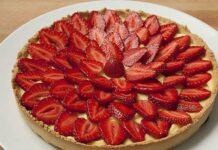 tarte légère aux fraises WW