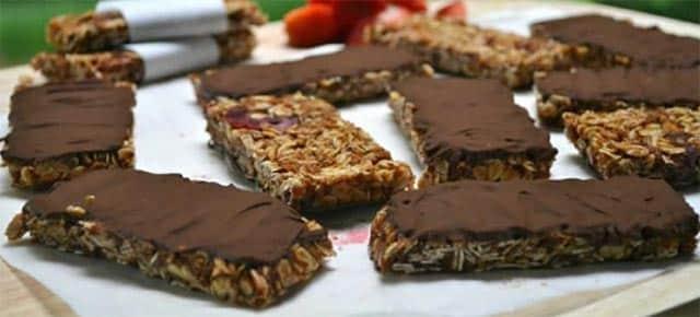 barres de céréales au chocolat avec Thermomix