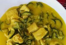 curry de poulet aux courgettes WW