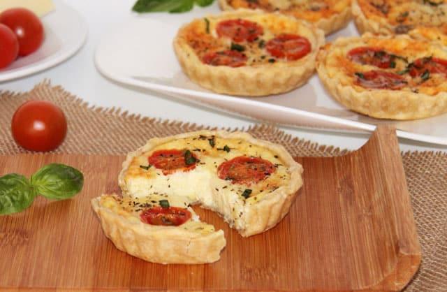 mini-quiches aux tomates cerises et fromage au Thermomix
