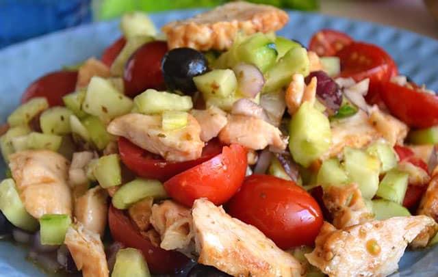 salade grecque au poulet WW