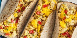 Tacos aux œufs et à la dinde ww