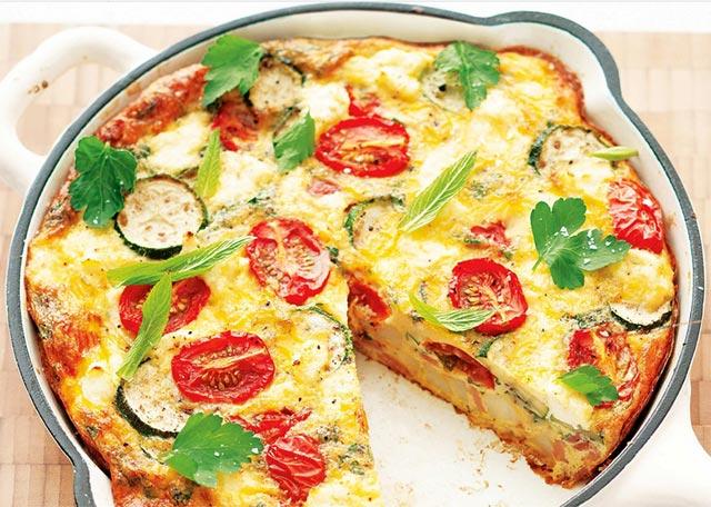 Tortilla de légumes ww