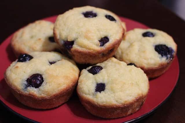 muffins sans farine aux myrtilles WW