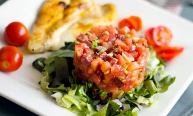 tartare de tomates et jambon WW