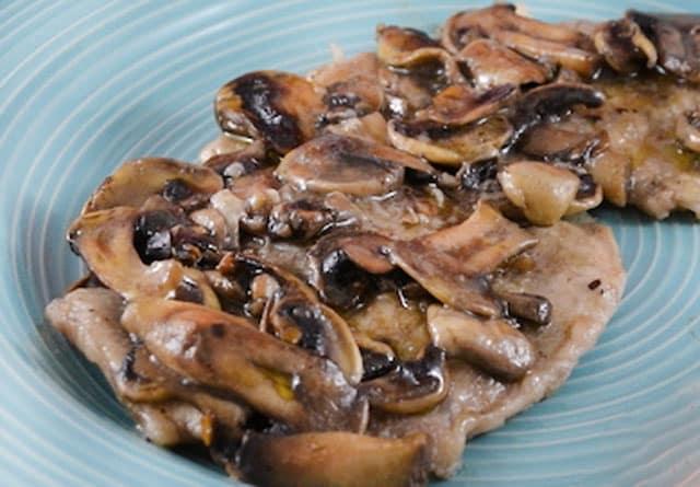 escalope de veau aux champignons WW