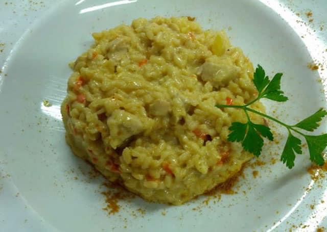 risotto de poulet au curry WW