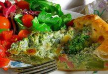 tarte salée au brocoli et jambon WW