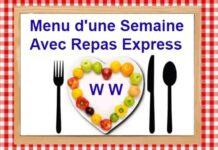 Menu d'une Semaine Avec Repas Express WW