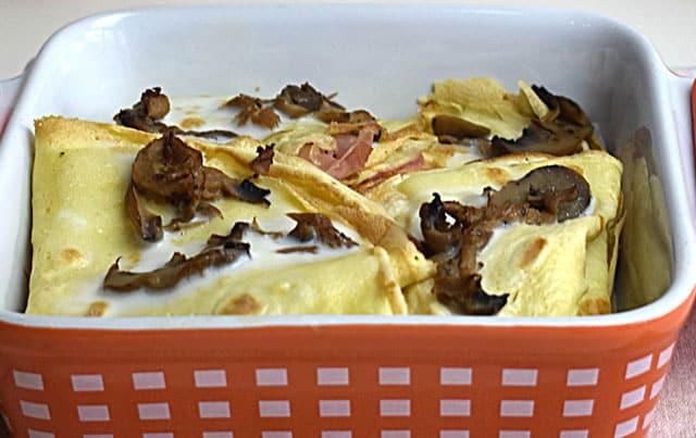crêpes farcies aux champignons et jambon WW