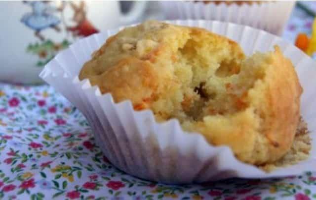 Muffins aux Carottes / avoine et Orange WW