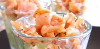 Verrines légères au saumon et aux pommes