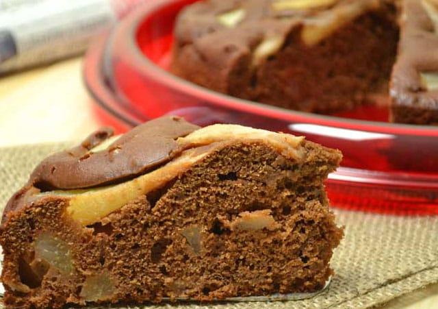 gâteau au chocolat et aux poires au Thermomix