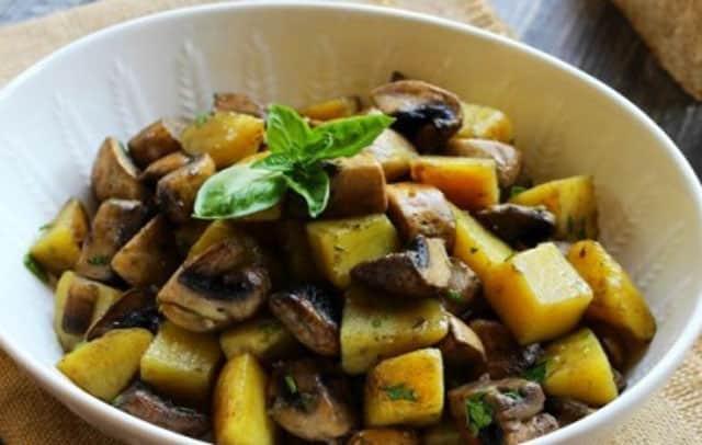 poêlée légère de pommes de terre aux champignons