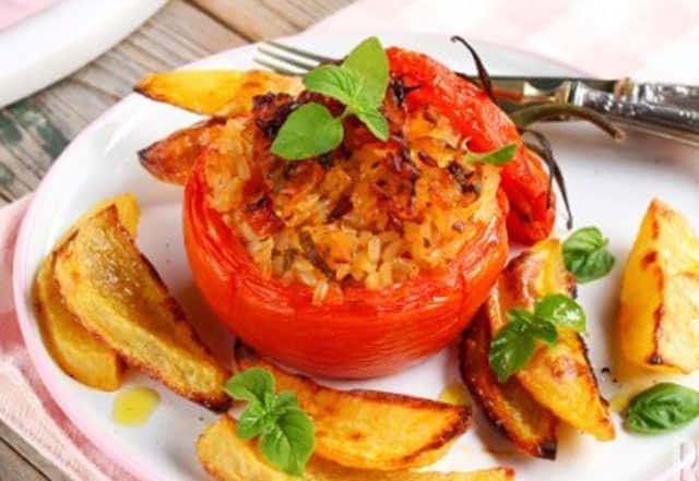 Tomates Farcies au Riz Légères ww