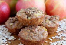 muffins aux pommes et flocons d'avoine WW