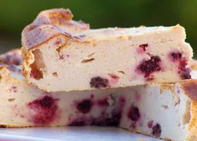 Gâteau léger au Fromage Blanc et aux Framboises WW