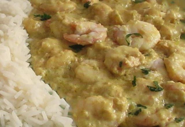 curry de crevettes au yaourt WW