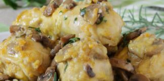 cuisses de poulet aux champignons WW