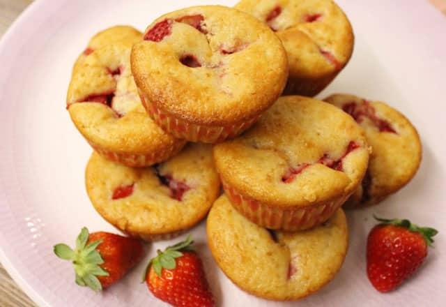 muffins au yaourt et aux fraises au Thermomix