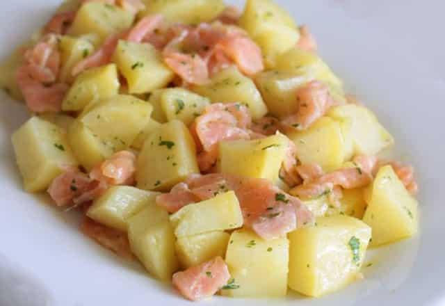 Salade de Pommes de Terre au Saumon Fumé WW
