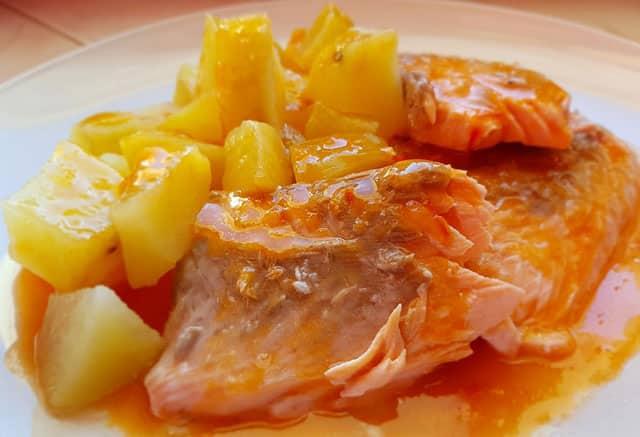 Saumon à la Sauce aux Tomates Cerises au Thermomix