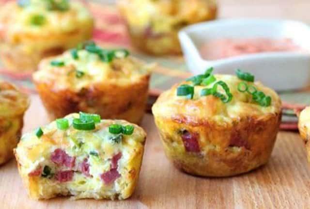muffins salés au jambon WW