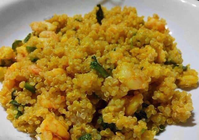 quinoa aux crevettes et courgettes au Thermomix