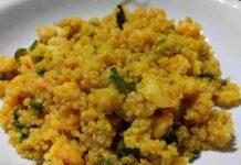 quinoa aux crevettes et aux courgettes WW