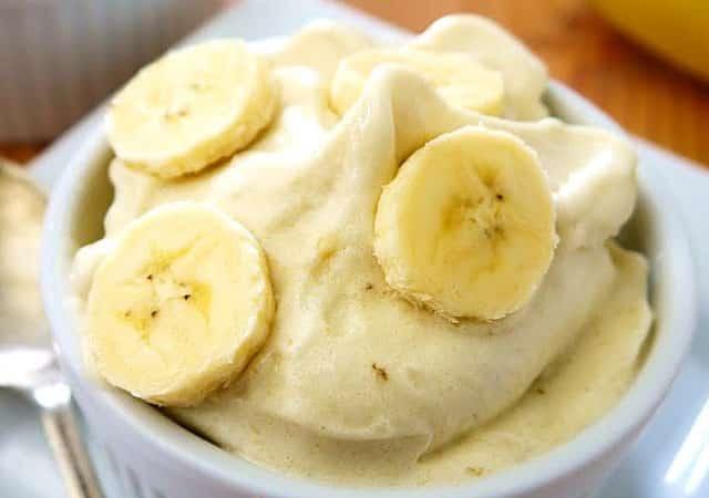 glace légère à la banane à 0 SP