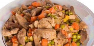 Blanquette de veau aux petits pois et carottes