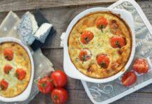 Clafoutis de chèvre frais et tomates cerises