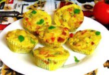 Muffins au poulet et légumes d'été