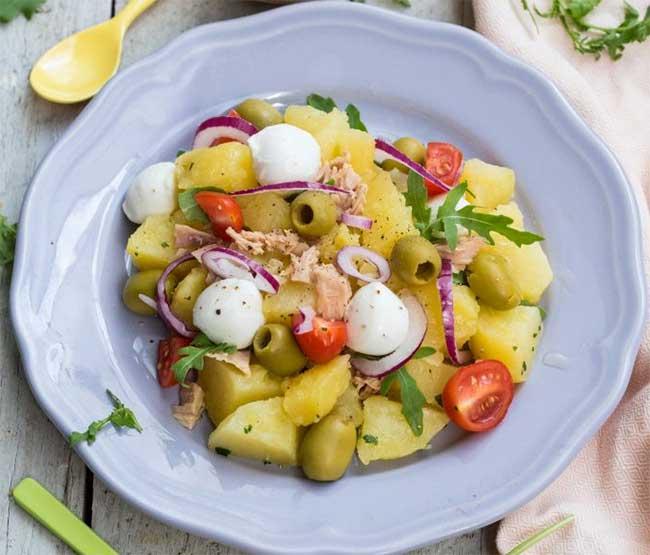 Salade de pomme de terre mozzarella et thon