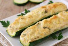 courgettes farcies au thon et fromage